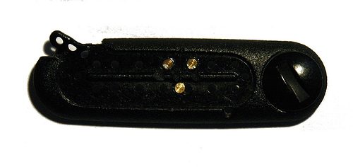 Pins inserted into cover